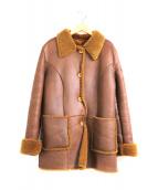TOO SHOKAI(トウオウショウカイ)の古着「ムートンジャケット」|ブラウン