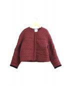 IENA LA BOUCLE(イエナ ラ ブークル)の古着「ノーカラーキルティングジャケット」|ボルドー