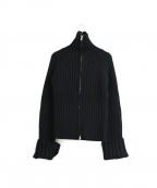 Y'S YOHJI YAMAMOTO(ワイズ ヨウジヤマモト)の古着「[OLD]バックデザインドライバーズニット」 ブラック