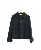 Y'S YOHJI YAMAMOTO(ワイズ ヨウジヤマモト)の古着「[OLD]メルトンウールショートコート」 ブラック