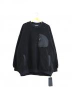 NEIGHBORHOOD(ネイバーフッド)の古着「クルーネックボアフリースジャケット」|ブラック