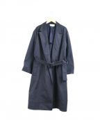 eN ROUTE(アンルート)の古着「ベルテッドガウンコート」|ネイビー