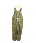 porter des boutons(ポルテデブトン)の古着「シリコンツイルサロペット」|オリーブ