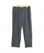 CORNELIANI(コルネリアーニ)の古着「2タックウールトラウザースラックスパンツ」|チャコールグレー
