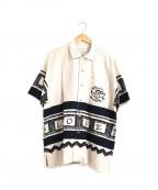 CASTELBAJAC(カステルバジャック)の古着「オープンカラーリネンシャツ」|ベージュ