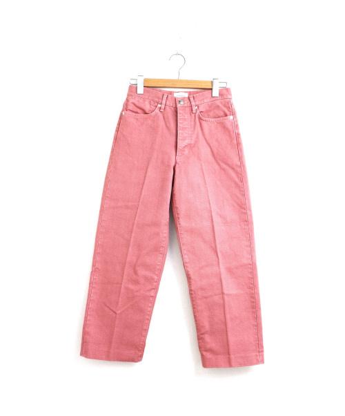 TANAKA(タナカ)TANAKA (タナカ) クロップドカラーデニム ピンク サイズ:W26 ST-2B DAD JEAN CROPの古着・服飾アイテム