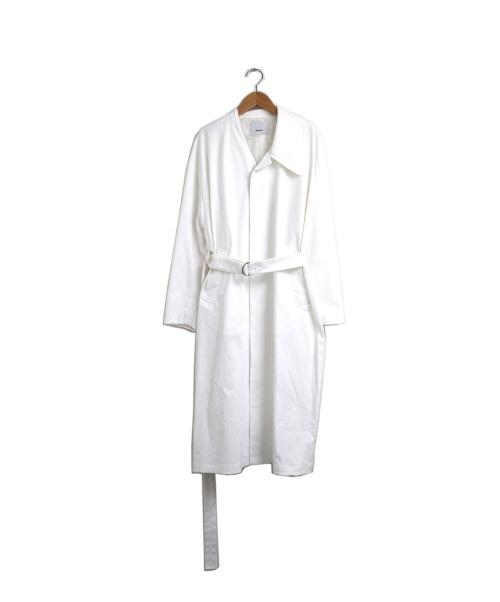 08sircus(08サーカス)08sircus (08サーカス) ナチュラルストレッチツイルアシンメトリーコート ホワイト 19SS Natural stretch twill asymmetry coatの古着・服飾アイテム