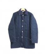 LAVENHAM(ラベンハム)の古着「ツイードキルティングジャケット」|ネイビー