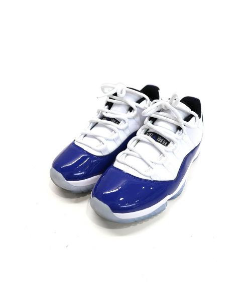 NIKE(ナイキ)NIKE (ナイキ) WMNS AIR JORDAN 11 RETRO LOW ホワイト×ブルー サイズ:26.5cm AH7860-100 エアジョーダン11レトロロー CONCORD・コンコルドの古着・服飾アイテム