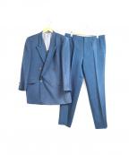 CARVEN(カルヴェン)の古着「[OLD]カラーセットアップダブルスーツ」|ブルー
