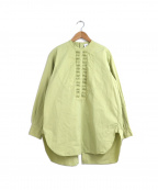 6(ROKU) BEAUTY&YOUTH(ロク ビューティーアンドユース)の古着「PIN TUCK SHIRT / ピンタックシャツ」|ライトグリーン