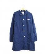 DANTON×BEAMS(ダントン×ビームス)の古着「別注ナイロンタフタステンカラーコート」 ブルー