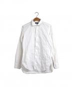 LARDINI()の古着「フラワー刺繍シャツ」|ホワイト
