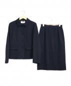 courreges(クレージュ)の古着「スカートフォーマルセットアップ」|ネイビー