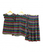 TARA JARMON(タラジャーモン)の古着「3ピースセットアップブラウス&スカート」|ブラック
