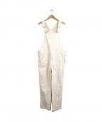 porter des boutons(ポルテデブトン)の古着「レースワークオーバーオール」|ホワイト