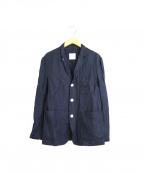 Toujours(トゥジュー)の古着「リネンブレンドテーラードジャケット」|ネイビー