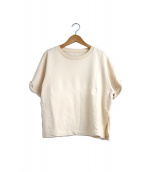 MM6 Maison Margiela(エムエムシックス メゾンマルジェラ)の古着「S/SスリットスウェットTシャツ」|ベージュ