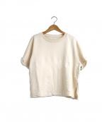 MM6 Maison Margiela(エムエムシックス メゾン マルジェラ)の古着「S/SスリットスウェットTシャツ」|ベージュ