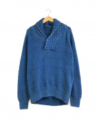 Denham()の古着「インディゴ染めショールカラーケーブルニット」|インディゴ