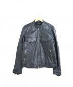 FULLCOUNT(フルカウント)の古着「カーフレザーライダースジャケット」 ブラック