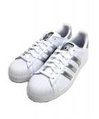 adidas(アディダス)の古着「SUPERSTAR W / スーパースターW」|ホワイト×シルバー