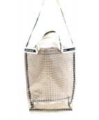()の古着「PVC2WAYショルダーバッグ」|クリア×ホワイト