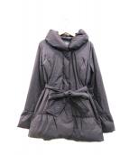 FRANCO FERRARO(フランコフェラーロ)の古着「Aラインベルトダウンコート」|グレー