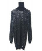 Christian Dior BOUTIQUE(クリスチャン ディオールブティック)の古着「シアーレオパードストレッチチュールチュニック」|ブラック