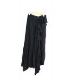 J.W. ANDERSON(ジェイダブリューアンダーソン)の古着「シルクアシンメトリースカート」 ブラック