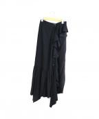 J.W. ANDERSON(ジェイダブリューアンダーソン)の古着「シルクアシンメトリースカート」|ブラック