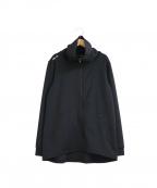RLX RALPH LAUREN(アールエルエックスラルフローレン)の古着「ハイネックジャージートラックジャケット」|ブラック