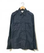 Martin Margiela 10(マルタンマルジェラ 10)の古着「エポレットミリタリーシャツ」|ネイビー