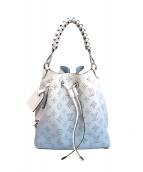 ()の古着「ムリア 2WAYミニバケットバッグ」|ホワイト×ブルー