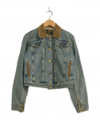 Vivienne Westwood ANGLOMANIA(ヴィヴィアンウエストウッド アングロマニア)の古着「[OLD]パイレーツボタンデニムジャケット」|インディゴ