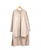 YARRA(ヤラ)の古着「琴平炊き綿リネンチュニックシャツワンピース」 ベージュ