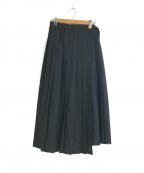 1er Arrondissement(プルミエ アロンディスモン)の古着「ラッププリーツスカート」|ブラック