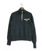 THE REAL McCOY'S(ザリアルマッコイズ)の古着「ハーフジップスウェット」 ブラック