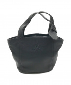 KITAMURA(キタムラ)の古着「レザーミニトートバッグ」 ブラック