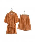 Ameri VINTAGE(アメリヴィンテージ)の古着「メディ リラックスセットアップジャケット」|オレンジ