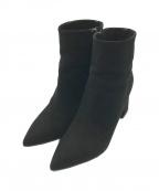 PELLICO(ペリーコ)の古着「サイドジップヒールショートブーツ」|ブラック