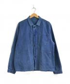 VINTAGE(ヴィンテージ)の古着「フレンチモールスキンジャケット」|ブルー