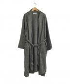YARRA(ヤラ)の古着「リネンウールツイードガウンコート」 グレー