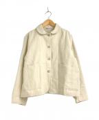 YARRA(ヤラ)の古着「ウールリネンカバーオールジャケット」 アイボリー