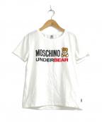 MOSCHINO(モスキーノ)の古着「ロゴプリントTシャツ」|ホワイト