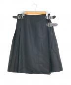 O'NEIL OF DUBLIN(オニールオブダブリン)の古着「ウールラッププリーツキルトスカート」 ブラック