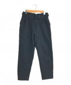 UNDERCOVER(アンダーカバー)の古着「ハイウエスト2タックサスペンダーパンツ」|ネイビー