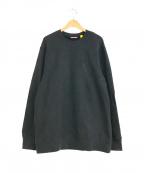 MONCLER(モンクレール)の古着「ラインストーンロゴスウェット」|ブラック