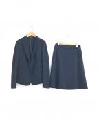 icB(アイシービー)の古着「ストレッチジャージーセットアップスカートスーツ」|ネイビー