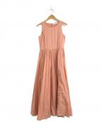 MARIHA(マリハ)の古着「コットンカラーノースリーブワンピース」|ピンク